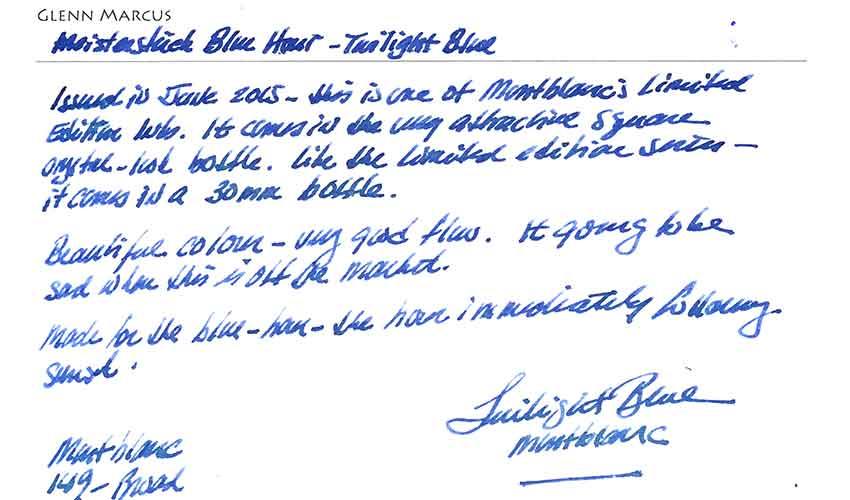 Montlbanc Ink Glenn S Pens